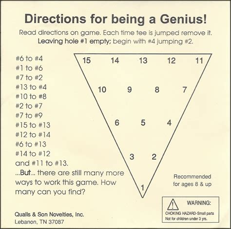 pattern for triangle peg game cracker barrel conundrum grover s take on things