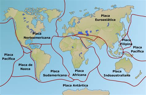foto de las placas tectonicas 2 1 placas litosf 233 ricas
