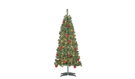 asda pop up christmas tree 5ft pop up pre lit led tree and gold baubles shop george