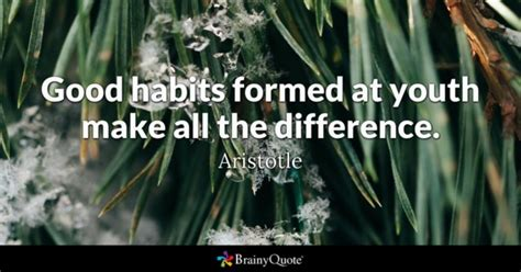 Habits Formed At Youth Make Aristotle Quotes Page 2 Brainyquote