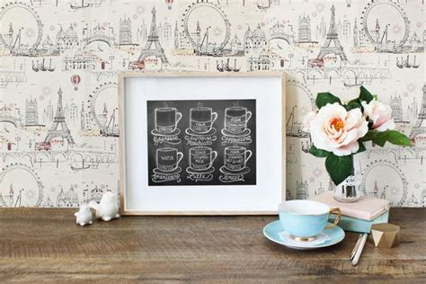 printable dining room art lily val coffee shop art guide to coffee drinks