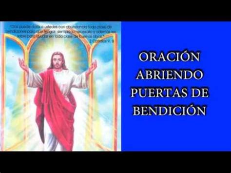 oraciones para abrir puertas a la bendicion y pedir protecci 211 n salud y prosperidad oraci 211 n