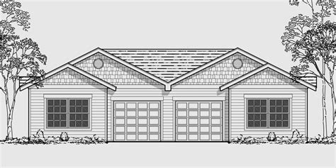 one story house blueprints one story duplex house plans narrow duplex plans 2 bedroom