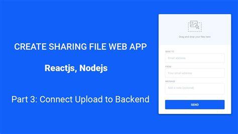 ep react file upload create file sharing web app