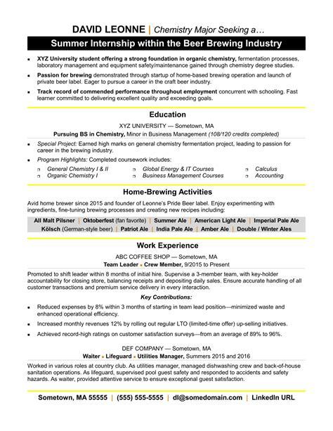 internship experience in resume internship resume example sample