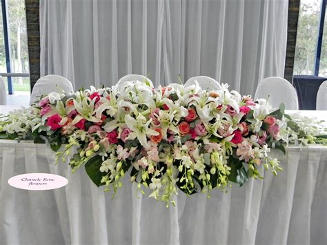 table arrangement wedding flower arrangements for long table 224 my vow