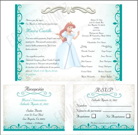 quinceanera program templates finished project quinceanera invitation e gomez designs