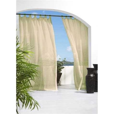 outdoor decor curtains commonwealth outdoor decor escape 84 quot tab curtain panel in