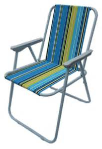 Camping folding chair blue amp yellow stripes sports amp leisure
