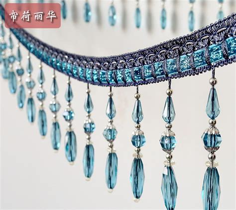 bead trim for curtains online get cheap beaded fringe trim aliexpress com