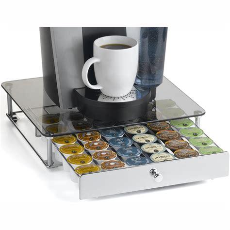 best k cup storage drawer keurig k cup storage drawer glass top in tea and coffee