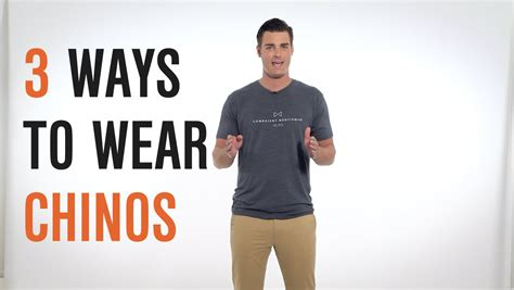 what goes with dress smarter 3 ways to wear chinos