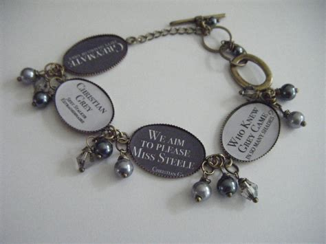 fifty shades of grey trilogy christian grey quotes bracelet