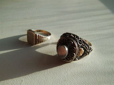 antique poison ring in sterling silver sterling silver