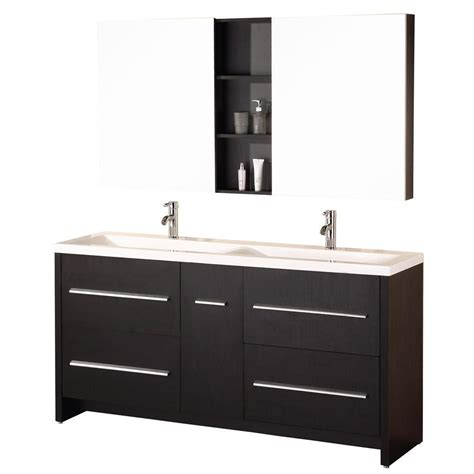 home depot design element vanity design element perfecta 63 in w x 20 in d vanity in