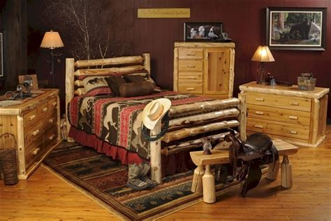 western bedroom furniture sets drifter western log bed dcb corral style log beds