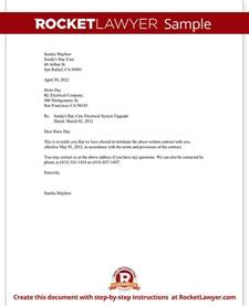 Termination Letter Of Service Agreement Notice Of Termination Of Contract Notice Letter With