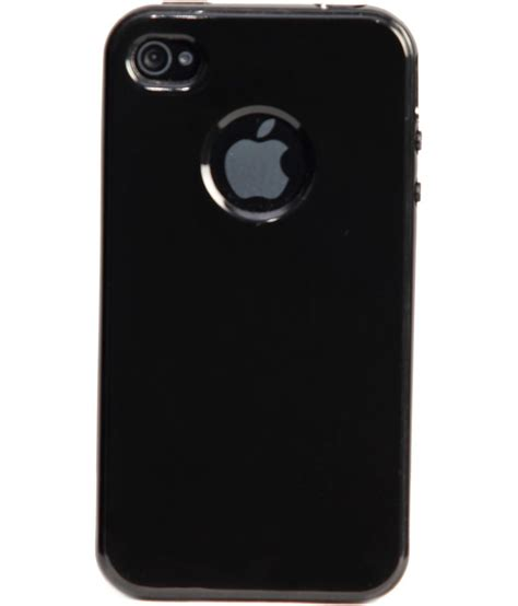 Softcase Glossy Iphone 55s iaccy black glossy soft with logo cut out iphone 4s