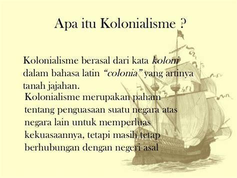perkembangan kolonialisme dan imperialisme barat di indonesia