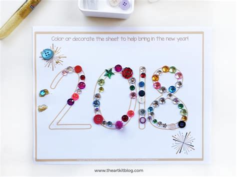 new years crafts simple new year s craft for free printable