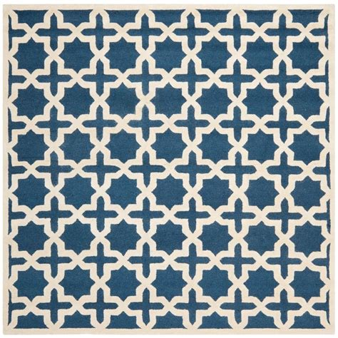 4 foot square rug safavieh cambridge navy blue ivory 4 ft x 4 ft square area rug cam125g 4sq the home depot