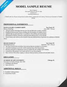 modeling resume template beginners following is a sle model resume format