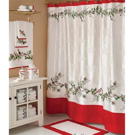 christmas bathroom shower curtains lenox winter song christmas shower curtain 24 99