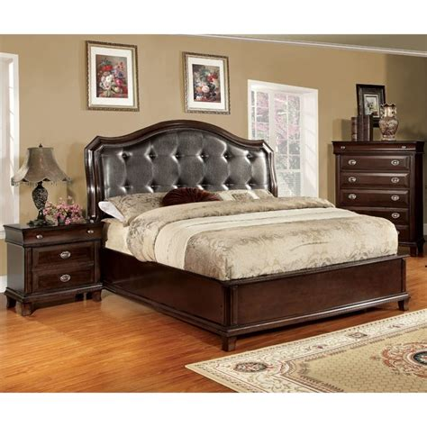 california king bedroom set furniture of america semptus 3 piece california king