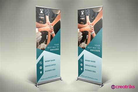 Wedding Roll Up Banner by Business Roll Up Banner V011 Presentation Templates