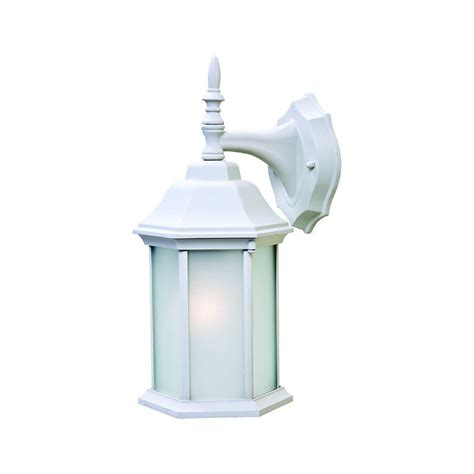 White Outdoor Light Fixtures Acclaim Lighting Craftsman 2 Collection 1 Light Textured White Outdoor Wall Mount Fixture 5181tw
