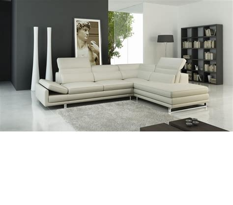 Modern Leather Sectional Sofas Dreamfurniture 958 Modern Italian Leather Sectional Sofa
