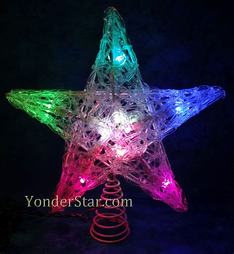 multi colored star tree topper 11 quot led multi colored tree topper