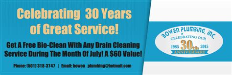 Bowen Plumbing by Celebrating Our 30th Anniversary Bowen Plumbing Inc