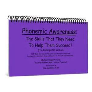 phonemic awareness revised english pre kindergarten
