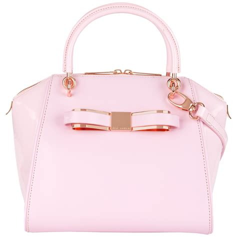 Ravee Bag From Ted Baker by Lyst Ted Baker Aveline Patent Leather Tote In Pink