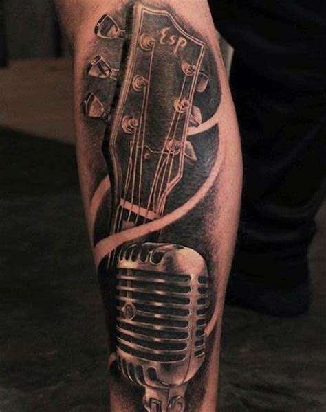 microphone tattoo on neck 25 best images about music tattoos for men on pinterest