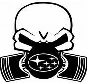 Subaru Piston Gas Mask Skull Decal / Sticker 06
