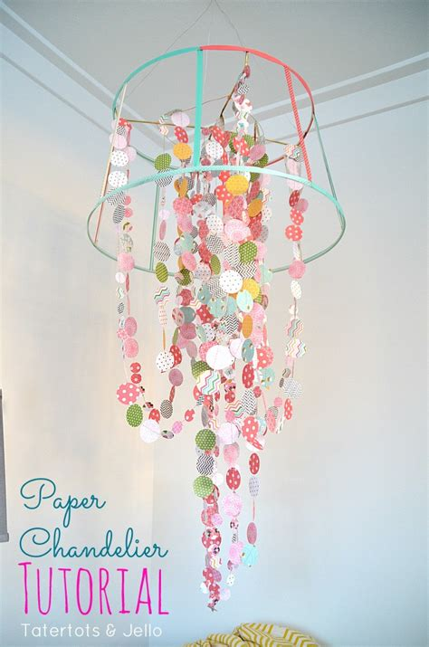 How To Make A Paper Chandelier For - paper ribbon chandelier a craft in your day
