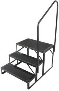 rv stairs with handrails portable steps with handrail
