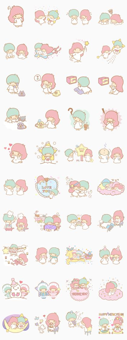 theme line android little twin star little twin stars line sticker rumors city