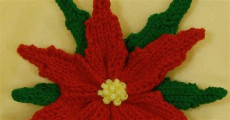 knitted poinsettia loom lore poinsettia on the knitting loom