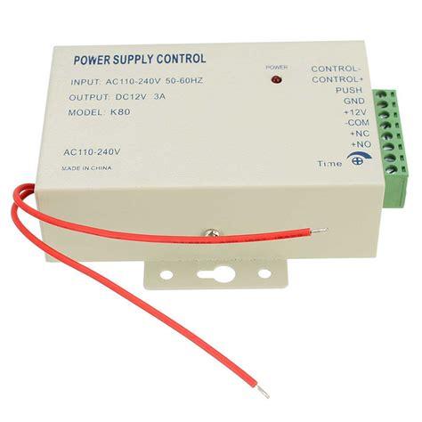 Power Supply 12v 3a Utk Rfid Access Door Lock 3 1pcs power supply switch door access
