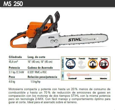 cadena para motosierra ms 250 motosierra stihl ms250 con barra de 20 5 950 00 en