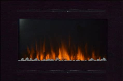 refurbished fireplaces refurbished 40 inch forte wall recessed electric fireplace in black