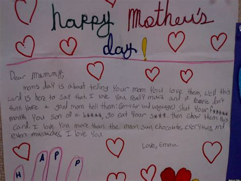 best mothers day cards cute kid note of the day the best mother s day card of