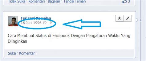 cara membuat status facebook rata tengah cara membuat status di facebook dengan pengaturan waktu