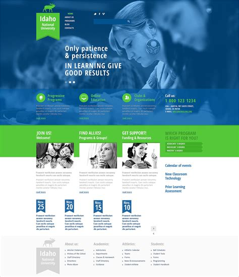 free joomla templates for university website 22 best university website templates psd free download