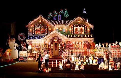decorated christmas houses village christmas home decoration 2015 village of odell illinois