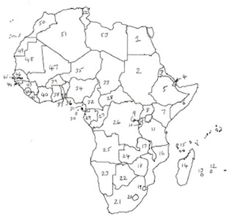 africa map numbered image gallery numbered map of africa