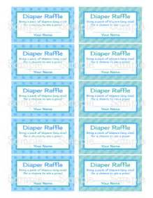 gallery for gt diaper raffle tickets template boy